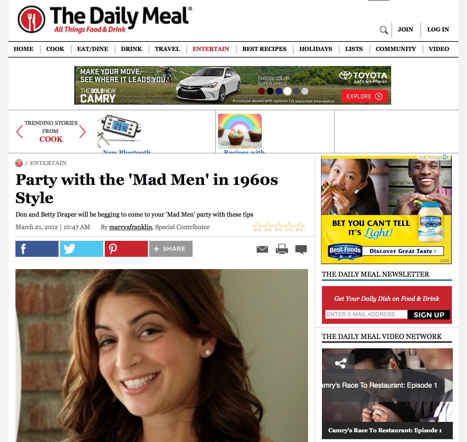 Party with the 'Mad Men' in 1960s Style | The Daily Meal