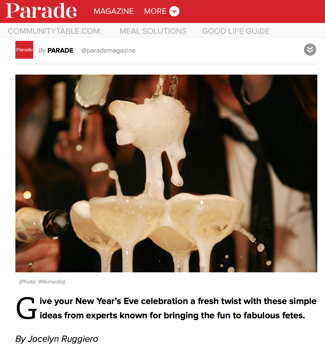 Parade Magazine: The Party Starts Here!