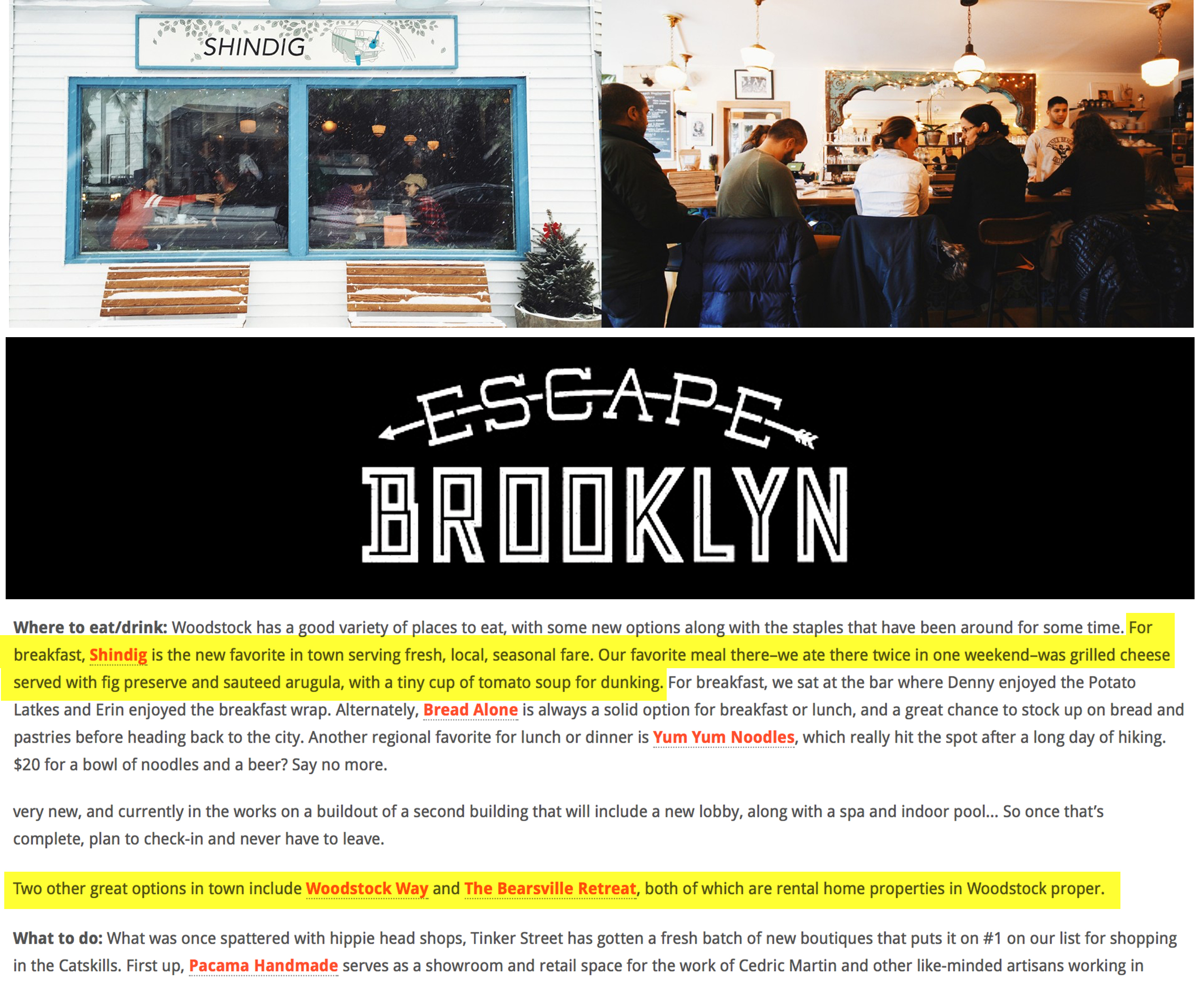 Brooklyn Escape: WEEKENDER – Woodstock, NY
