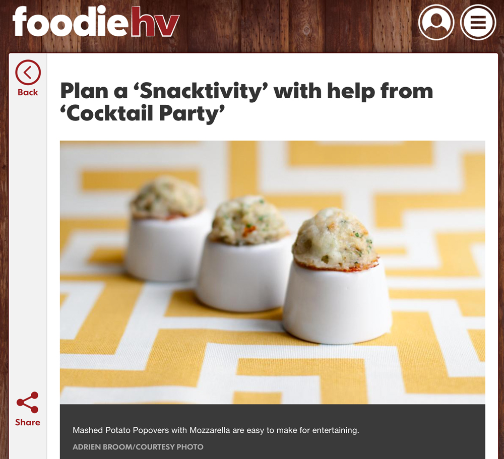 Foodie HV: Plan a 'Snacktivity' with help from 'Cocktail Party'