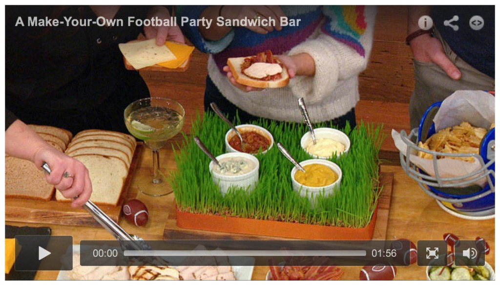 Super Bowl Tips: Sandwich Bar