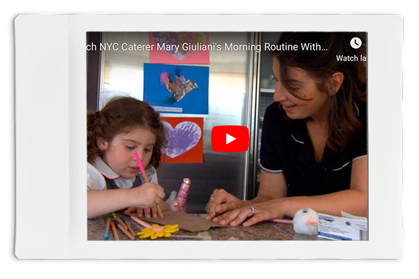 Celeb Caterer Mary Giuliani Shares Her Hectic (& Fun!) Morning Routine With Daughter