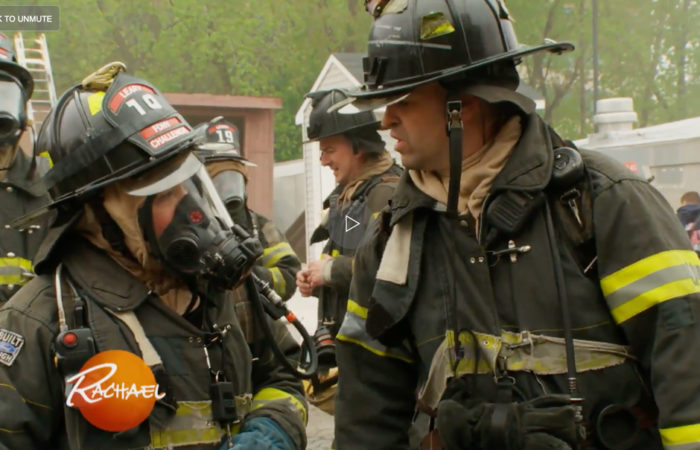 See Rach Suit Up + Enter a Burning Building During a Live Fire Challenge